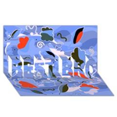 Sea Best Bro 3d Greeting Card (8x4) by Valentinaart