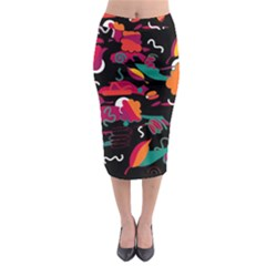 Colorful Abstract Art  Midi Pencil Skirt by Valentinaart