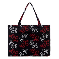 Elegance   Red  Medium Tote Bag