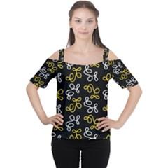 Elegance - yellow Women s Cutout Shoulder Tee by Valentinaart