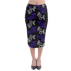 Elegance   Blue Midi Pencil Skirt by Valentinaart