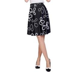 Elegance - gray A-Line Skirt by Valentinaart