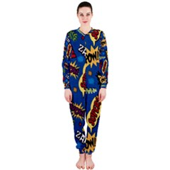 Fabric Comic Words Onepiece Jumpsuit (ladies)  by Onesevenart