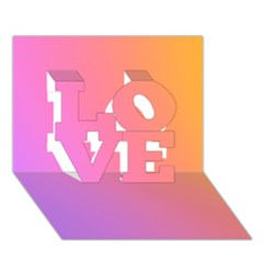 Blank Desk Pink Yellow Purple Love 3d Greeting Card (7x5) by AnjaniArt