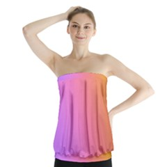 Blank Desk Pink Yellow Purple Strapless Top by AnjaniArt