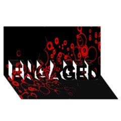 Abstraction Textures Black Red Colors Circles Engaged 3d Greeting Card (8x4) by AnjaniArt