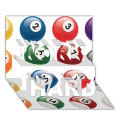 Billiards Work Hard 3d Greeting Card (7x5) by AnjaniArt