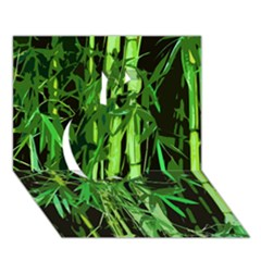 Bamboo Pattern Tree Apple 3d Greeting Card (7x5) by AnjaniArt