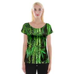Bamboo Pattern Tree Women s Cap Sleeve Top by AnjaniArt