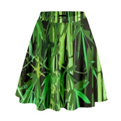 Bamboo Pattern Tree High Waist Skirt