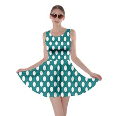 Circular Pattern Blue White Skater Dress by AnjaniArt