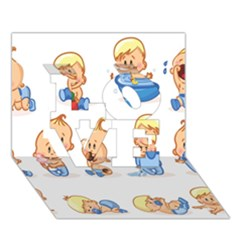 Cute Baby Picture Funny Love 3d Greeting Card (7x5) by AnjaniArt