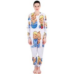 Cute Baby Picture Funny Onepiece Jumpsuit (ladies)  by AnjaniArt