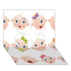 Cute Baby Picture Clover 3d Greeting Card (7x5) by AnjaniArt