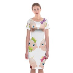 Cute Baby Picture Classic Short Sleeve Midi Dress