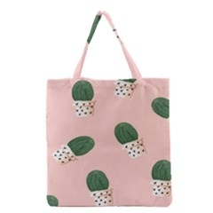 Flower Pot Grocery Tote Bag by AnjaniArt