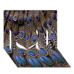 Feathers Peacock Light I Love You 3d Greeting Card (7x5) by AnjaniArt