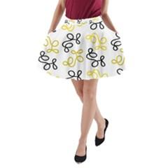 Yellow elegance A-Line Pocket Skirt by Valentinaart