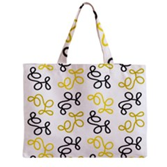 Yellow Elegance Medium Zipper Tote Bag by Valentinaart