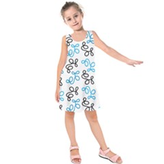 Blue Elegance  Kids  Sleeveless Dress by Valentinaart
