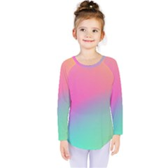 Pink Blue Kids  Long Sleeve Tee
