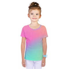 Pink Blue Kids  One Piece Tee by AnjaniArt