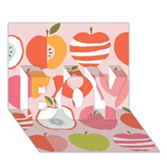 Pink Delicious Organic Canvas Boy 3d Greeting Card (7x5) by AnjaniArt