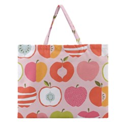 Pink Delicious Organic Canvas Zipper Large Tote Bag by AnjaniArt