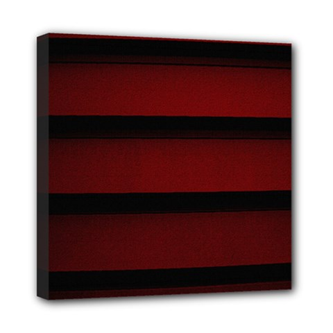 Line Red Black Mini Canvas 8  X 8  by AnjaniArt