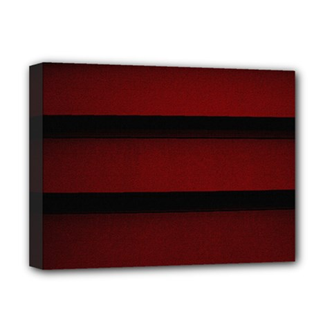 Line Red Black Deluxe Canvas 16  X 12   by AnjaniArt