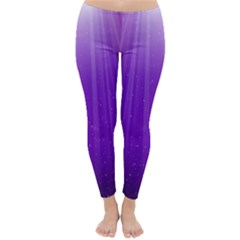 Purple Colors Fullcolor Classic Winter Leggings by AnjaniArt