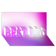 Purple White Background Bright Spots Best Bro 3d Greeting Card (8x4)