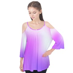 Purple White Background Bright Spots Flutter Tees by AnjaniArt