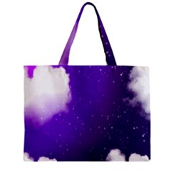 Purple Cloud Zipper Mini Tote Bag by AnjaniArt