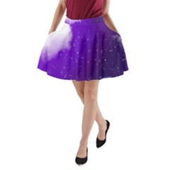 Purple Cloud A Line Pocket Skirt by AnjaniArt