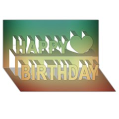 Smooth Gaussian Happy Birthday 3d Greeting Card (8x4) by AnjaniArt