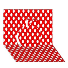 Red Circular Pattern Apple 3d Greeting Card (7x5) by AnjaniArt