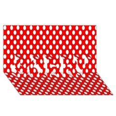 Red Circular Pattern Sorry 3d Greeting Card (8x4) by AnjaniArt