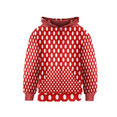 Red Circular Pattern Kids  Zipper Hoodie by AnjaniArt