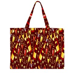 Wine Glass Drink Party Zipper Large Tote Bag by AnjaniArt