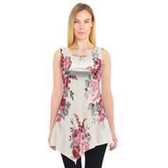 Rose Beauty Flora Sleeveless Tunic by AnjaniArt