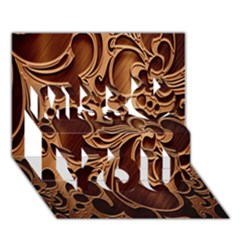 Tekstura Twigs Chocolate Color Miss You 3d Greeting Card (7x5)