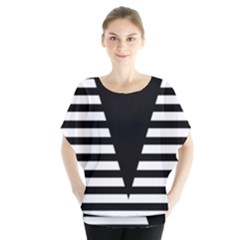 Black & White Stripes Big Triangle Blouse