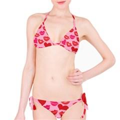 Valentine s Day Kisses Bikini Set by BubbSnugg