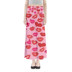 Valentine s Day Kisses Maxi Skirts by BubbSnugg