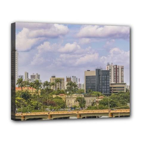 Cityscape Of Recife, Pernambuco Brazil Canvas 14  X 11  by dflcprints