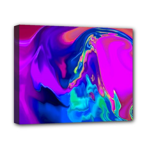 The Perfect Wave Pink Blue Red Cyan Canvas 10  X 8  by EDDArt