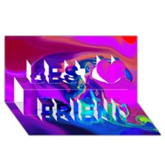 The Perfect Wave Pink Blue Red Cyan Best Friends 3d Greeting Card (8x4) by EDDArt