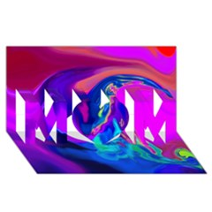 The Perfect Wave Pink Blue Red Cyan Mom 3d Greeting Card (8x4) by EDDArt