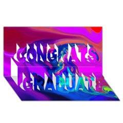The Perfect Wave Pink Blue Red Cyan Congrats Graduate 3d Greeting Card (8x4) by EDDArt